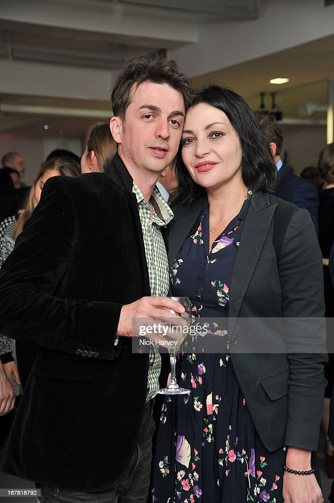 Danny Goffey and Pearl Lowe attend the opening of the Conde Nast College of Fashion and Design on April 30, 2013 in London, England.