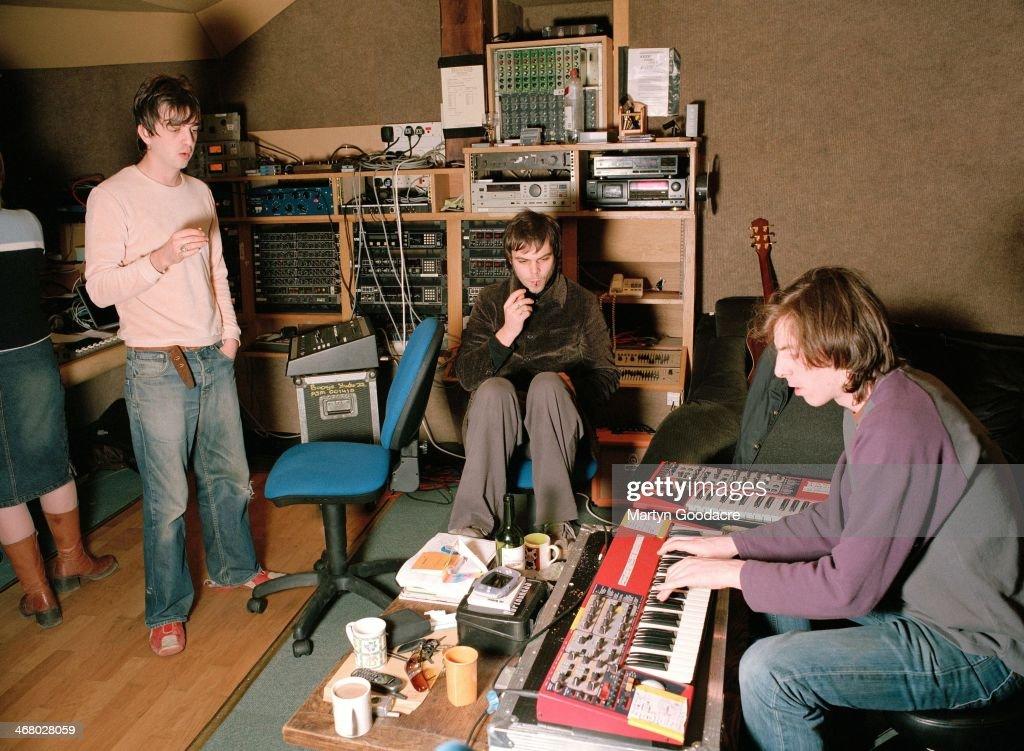 Supergrass Wales Rockfield Studios 2002 : News Photo