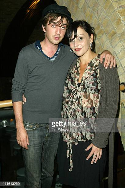 Danny Goffy of Supergrass and Pearl Lowe during London Fashion Week Spring/Summer 2006 - Profile 6 Fashion Show - Runway at Profile 6 Fashion Show in...