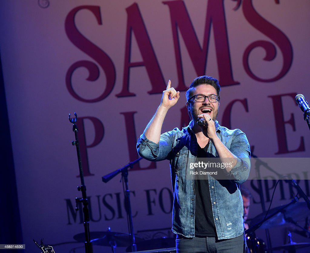 Danny Gokey performs at the first of six monthly concerts hosted by Steven Curtis Chapman, Sam's Place - Music For The Spirit at Ryman Auditorium on November 2, 2014 in Nashville, Tennessee.
