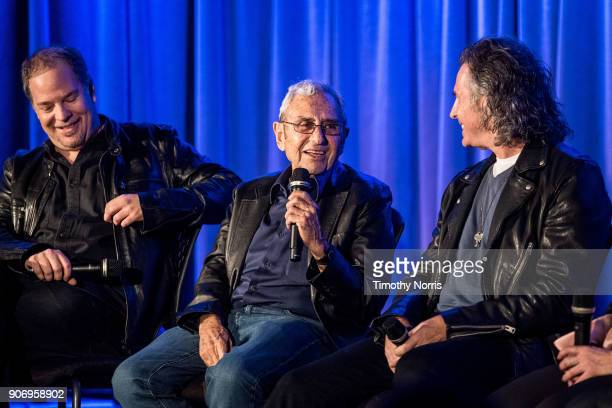 Danny Gold George Shapiro and Terry Wollman speak at The GRAMMY Museum on January 18 2018 in Los Angeles California