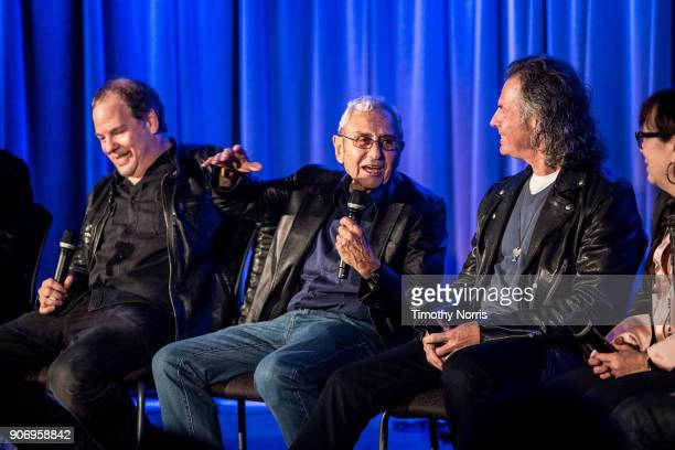 Danny Gold George Shapiro Terry Wollman and Aimee Hyatt speak at The GRAMMY Museum on January 18 2018 in Los Angeles California