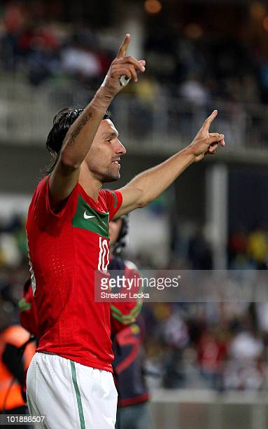 Danny Gomes of Portugal celebrates after scoring a goal during the international friendly match between Portugal and Mozambique at Wanderers Stadium...