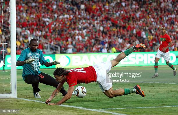 Danny Gomes of Portugal loses control of the ball during the international friendly match between Portugal and Mozambique at Wanderers Stadium on...