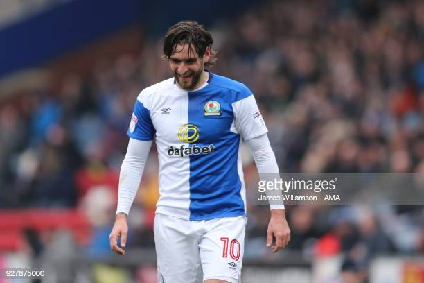 Danny Graham of Blackburn Rovers during the Sky Bet League One match between Blackburn Rovers and Wigan Athletic at Ewood Park on March 4 2018 in...