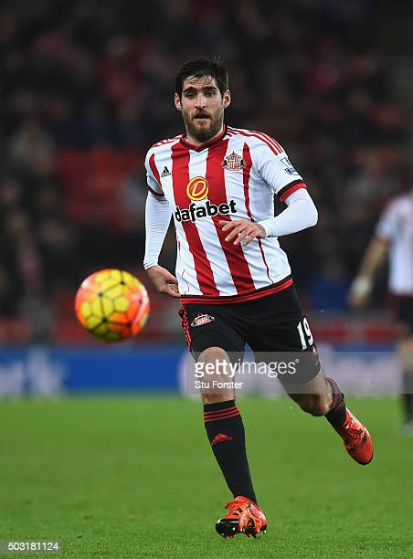 Danny Graham of Sunderland in action during the Barclays Premier League match between Sunderland and Aston Villa at Stadium of Light on January 2...