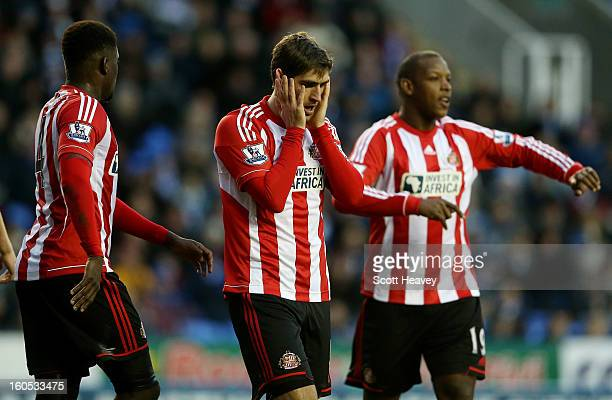 Danny Graham of Sunderland looks dejected during the Barclays Premier League match between Reading and Sunderland at Madejski Stadium on February 2...