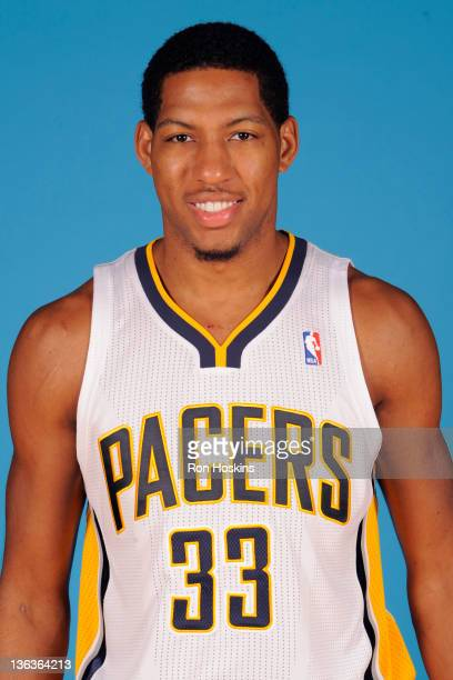 Danny Granger of the Indiana Pacers poses for a photo during the media day on December 14 2011 at Conseco Fieldhouse in Indianapolis Indiana NOTE TO...