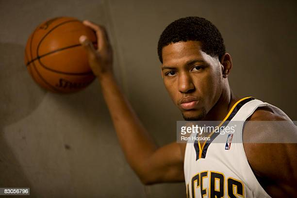 Danny Granger of the Indiana Pacers poses for a portrait during NBA Media Day on September 29, 2008 at Conseco Fieldhouse in Indianapolis, Indiana....