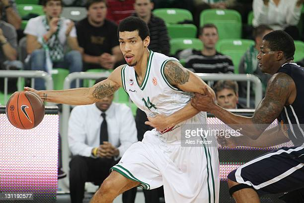 Danny Green #14 of Union Olimpija Ljubljana in action during the 20112012 Turkish Airlines Euroleague Regular Season Game Day 3 between Union...