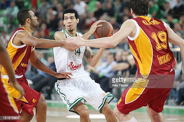 Danny Green #14 of Union Olimpija Ljubljana in action during the 20112012 Turkish Airlines Euroleague Regular Season Game Day 4 between Union...