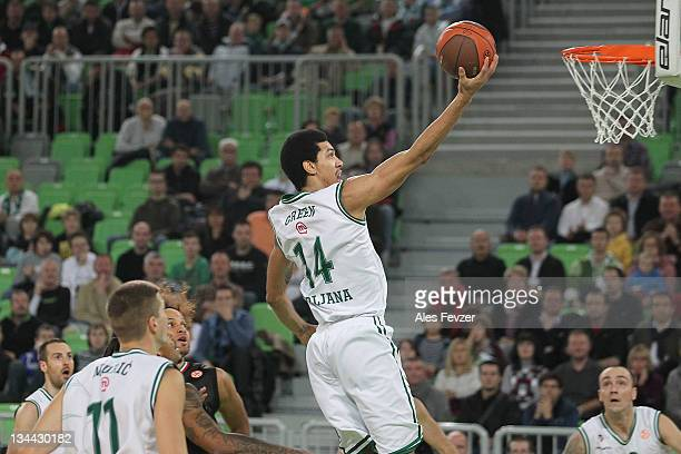 Danny Green #14 of Union Olimpija Ljubljana in action during the 20112012 Turkish Airlines Euroleague Regular Season Game Day 7 between Union...