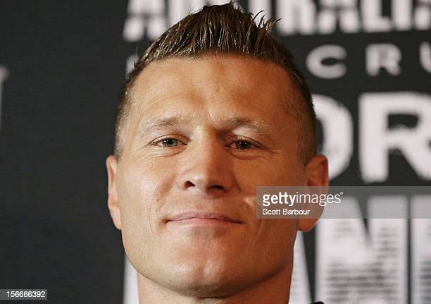 Danny Green of Australia poses during a press conference at Crown Entertainment Complex on November 19 2012 in Melbourne Australia Danny Green and...