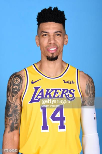 Danny Green of the Los Angeles Lakers poses for a head shot during media day on September 27 2019 at the UCLA Health Training Center in El Segundo...