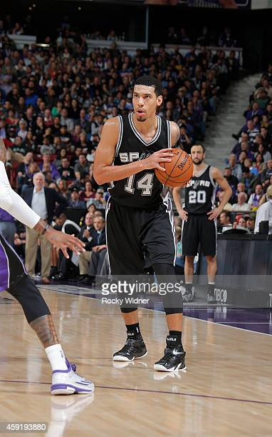 Danny Green of the San Antonio Spurs handles the ball against the Sacramento Kings on November 15 2014 at Sleep Train Arena in Sacramento California...
