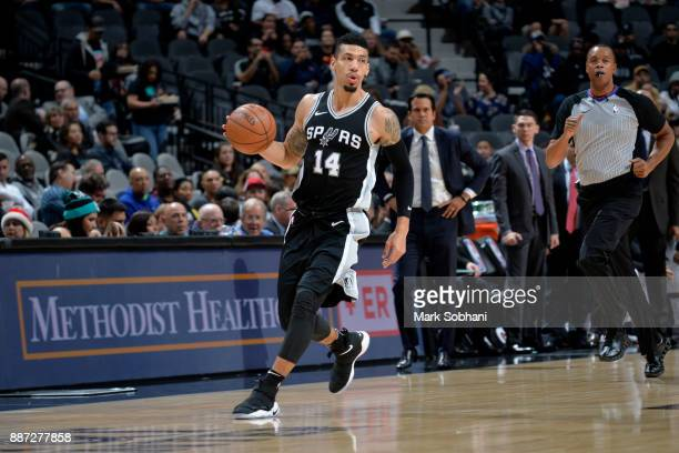 Danny Green of the San Antonio Spurs handles the ball against the Miami Heat on December 6 2017 at the ATT Center in San Antonio Texas NOTE TO USER...