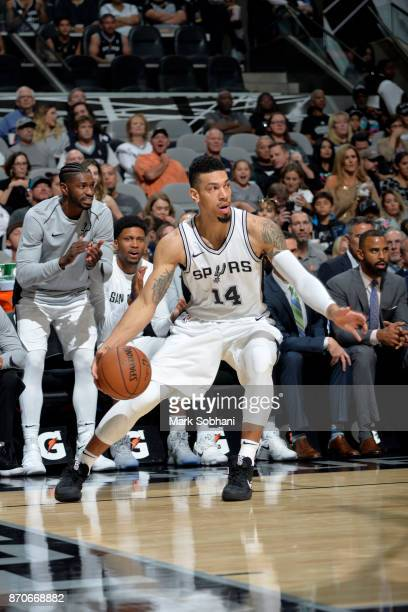 Danny Green of the San Antonio Spurs handles the ball during the game against the Phoenix Suns on November 5 2017 at the ATT Center in San Antonio...