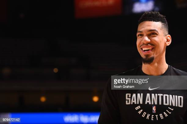 Danny Green of the San Antonio Spurs is seen before the game against the Golden State Warriors on March 8 2018 at ORACLE Arena in Oakland California...