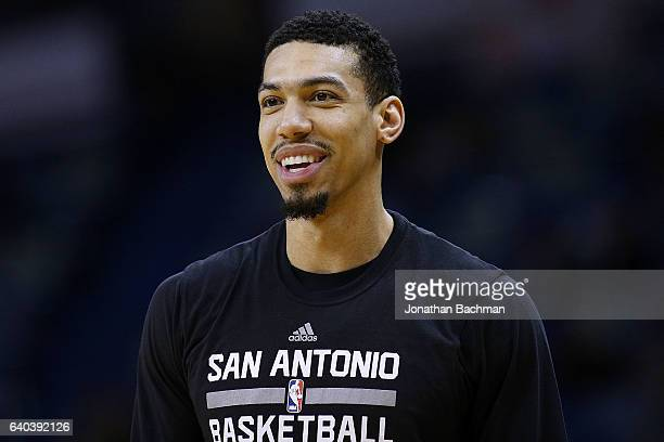 Danny Green of the San Antonio Spurs reacts before a game against the New Orleans Pelicans at the Smoothie King Center on January 27 2017 in New...