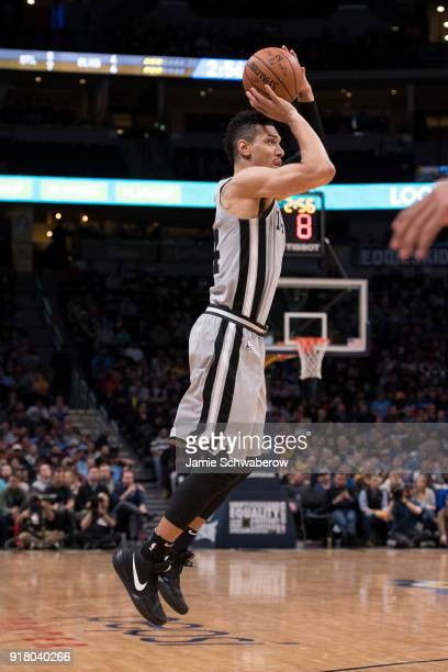 Danny Green of the San Antonio Spurs shoots against the Denver Nuggets at Pepsi Center on February 13 2018 in Denver Colorado NOTE TO USER User...
