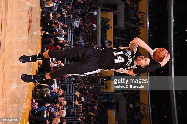 Danny Green of the San Antonio Spurs shoots the ball against the Los Angeles Lakers on November 18 2016 at STAPLES Center in Los Angeles California...