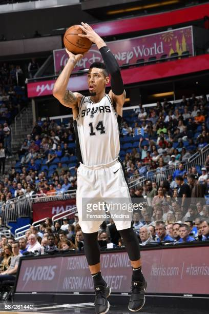 Danny Green of the San Antonio Spurs shoots the ball against the Orlando Magic on October 27 2017 at Amway Center in Orlando Florida NOTE TO USER...