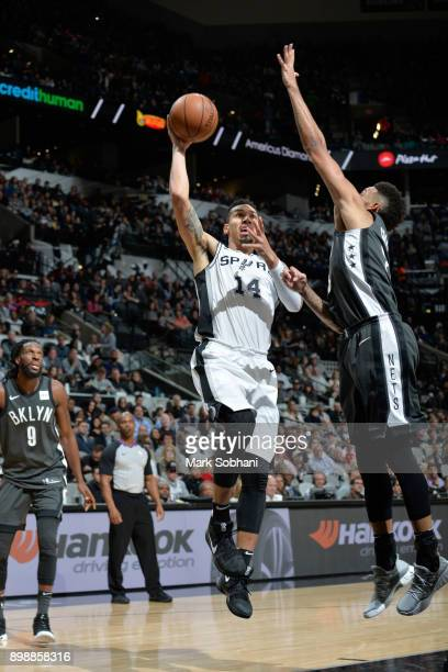 Danny Green of the San Antonio Spurs shoots the ball against the Brooklyn Nets on December 26 2017 at the ATT Center in San Antonio Texas NOTE TO...