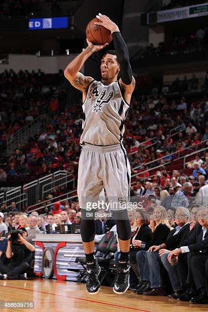 Danny Green of the San Antonio Spurs takes a shot against the Houston Rockets on November 6 2014 at the Toyota Center in Houston Texas NOTE TO USER...