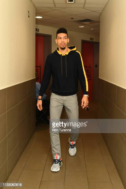 Danny Green of the Toronto Raptors arrives at the arena before the game against the Chicago Bulls on March 26 2019 at the Scotiabank Arena in Toronto...