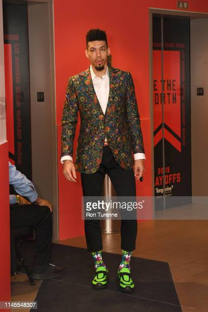 Danny Green of the Toronto Raptors arrives at the arena before the game against the Milwaukee Bucks in Game Four of the Eastern Conference Finals on...