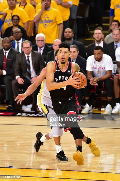 Danny Green of the Toronto Raptors goes to the basket against the Golden State Warriors in during Game two of the NBA Finals on June 2 2019 at Oracle...