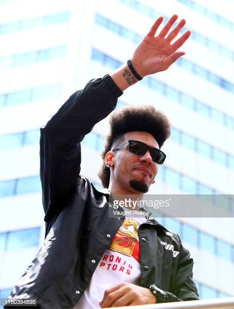 Danny Green of the Toronto Raptors looks on during the Toronto Raptors Victory Parade on June 17 2019 in Toronto Canada The Toronto Raptors beat the...