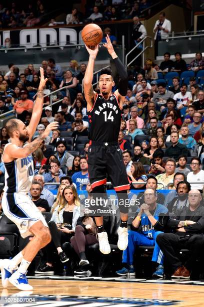 Danny Green of the Toronto Raptors shoots the ball against the Orlando Magic on December 28 2018 at Amway Center in Orlando Florida NOTE TO USER User...
