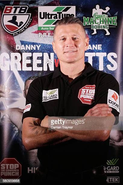 Danny Green poses for a photo after speaking to the media at Crown Towers on July 26 2016 in Melbourne Australia