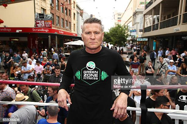 Danny Green poses for a photograph after a Public Workout ahead of the Anthony Mundine and Danny Green fight night on January 30 2017 in Adelaide...