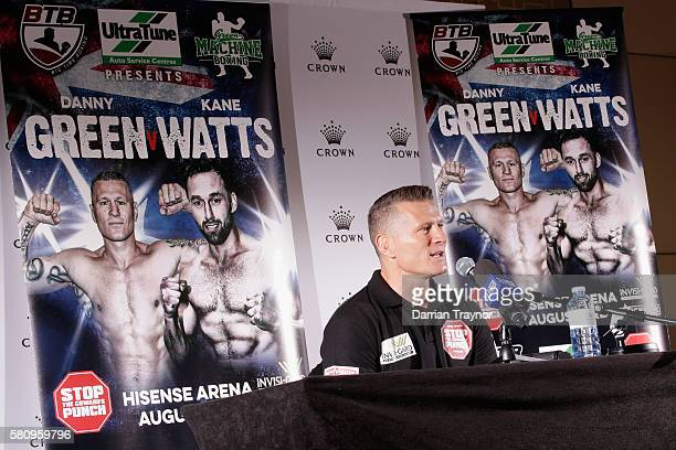 Danny Green speaks to the media at Crown Towers on July 26 2016 in Melbourne Australia