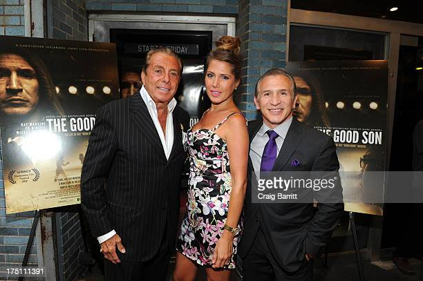 Danny Grimaldi and Ray Boom Boom Mancini attend the SnagFilms New York Premiere Of The Good Son on July 31 2013 in New York City