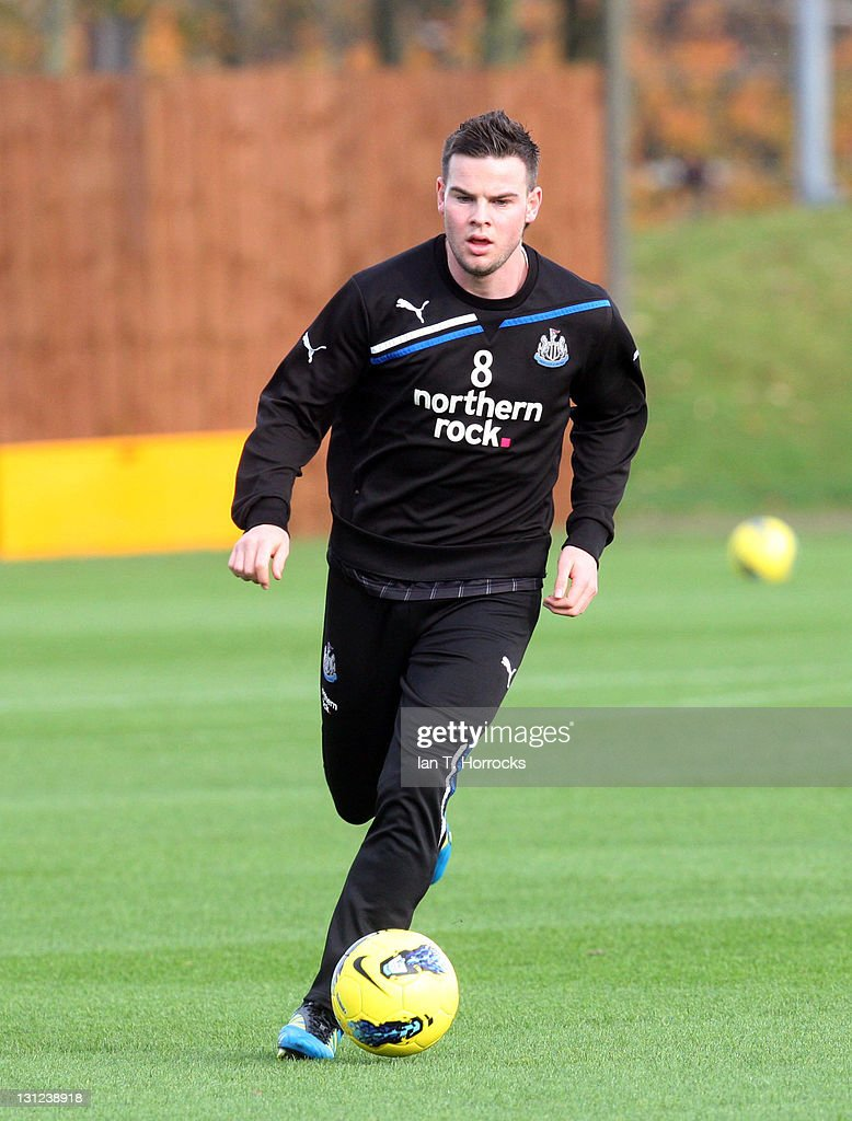 Danny Guthrie in action during a Newcastle United Training session at The Little Benton Training Ground on November 03, 2011 in Newcastle, United Kingdom.