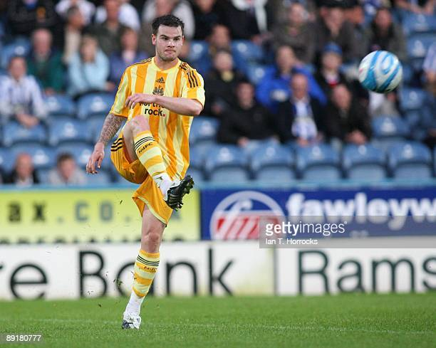 Danny Guthrie in action during a preseason friendly match between Huddersfield Town and Newcastle United at the Galpharm Stadium on July 21 2009 in...