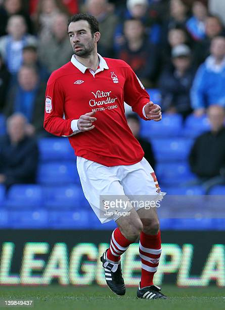 Danny Higginbotham of Nottingham Forest during the npower Championship match between Birmingham City and Nottingham Forest at St Andrews Stadium on...