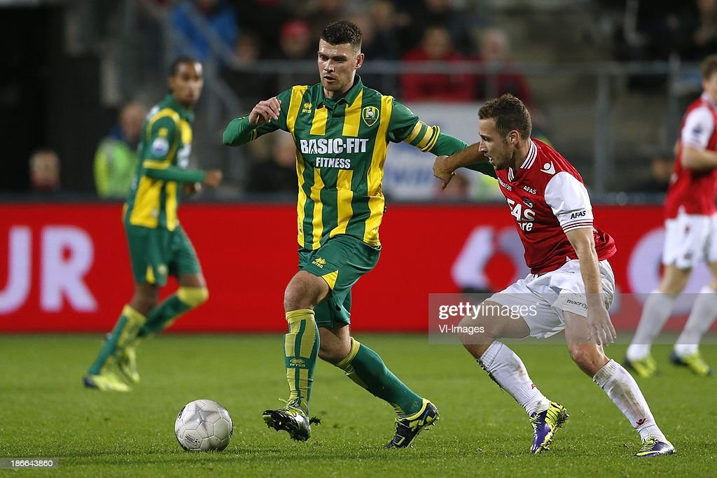 Danny Holla Of Ado Den Haag Roy Beerens Of Az During The Dutch News Photo Getty Images