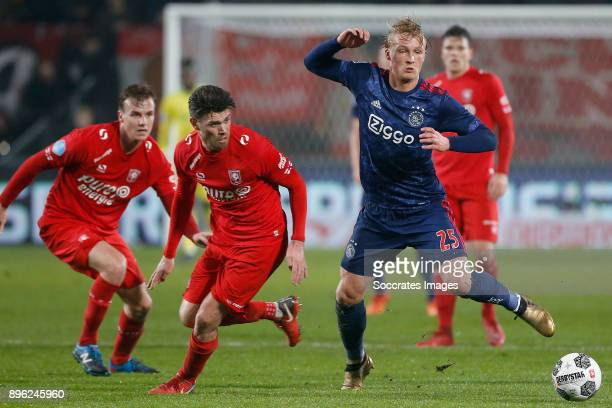 Danny Holla of FC Twente Kasper Dolberg of Ajax during the Dutch KNVB Beker match between Fc Twente v Ajax at the De Grolsch Veste on December 20...