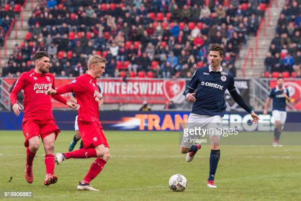 Danny Holla of FC Twente Richard Jensen of FC Twente Michiel Kramer of Sparta Rotterdam during the Dutch Eredivisie match between FC Twente Enschede...