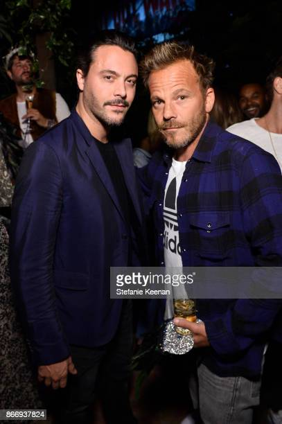 Danny Houston and Stephen Dorff attend PerrierJouet Presents Garden of Wonder with Simon Hammerstein on October 26 2017 in West Hollywood California