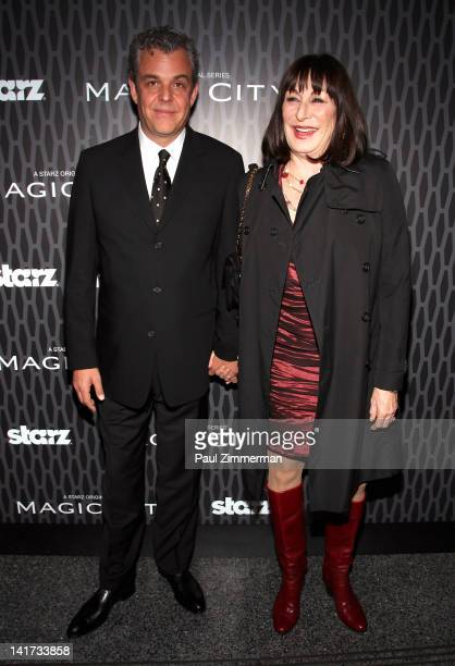 Danny Huston and Anjelica Huston attend the Magic City screening at the Academy Theater at Lighthouse International on March 22 2012 in New York City