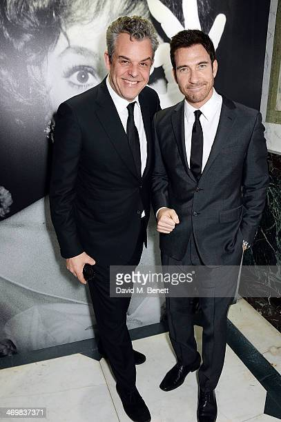 Danny Huston and Dylan McDermott attend the Weinstein Co Entertainment and Pathe postBAFTA party hosted by Bulgari and Grey Goose at Rosewood London...