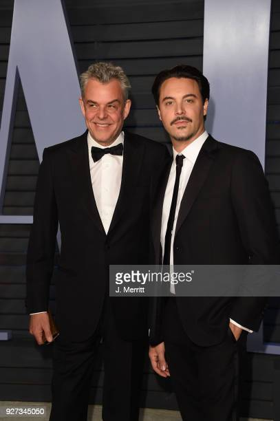 Danny Huston and Jack Huston attend the 2018 Vanity Fair Oscar Party hosted by Radhika Jones at the Wallis Annenberg Center for the Performing Arts...