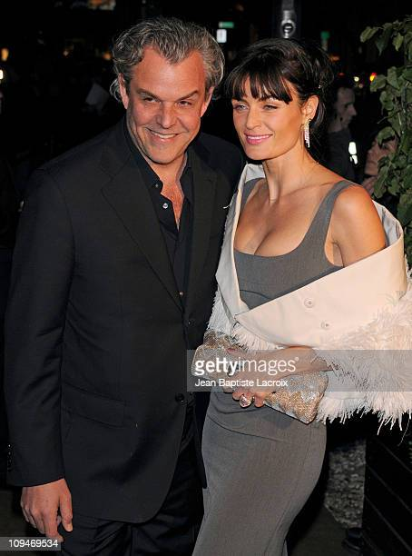 Danny Huston and Lyne Renee sighted attending Chanel and Charles Finch pre-Oscar party celebrating fashion and film at Madeo restaurant on February...