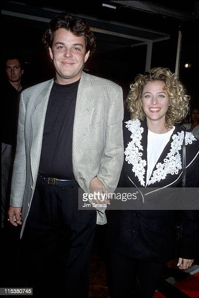 Danny Huston and Virginia Madsen during 'Valmont' Los Angeles Premiere November 14 1989 at Academy Theater in Beverly Hills California United States
