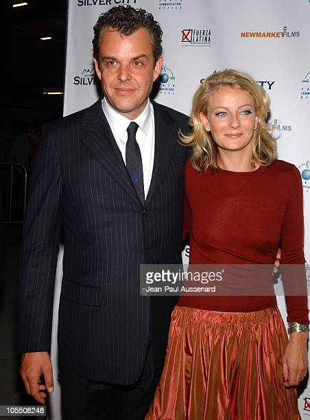 Danny Huston and wife Katie during Silver City Los Angeles Premiere Arrivals at The ArcLight in Hollywood California United States